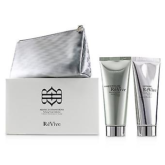 Revive Perfect Companions Purifying Travel Collection: Purifying Clay Mask 75g + Micro-resurfacing Treatment 75g - 2pcs+1bag
