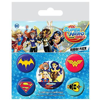 DC super helten jenter logoer Badge Pack