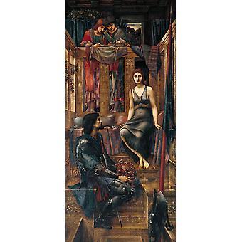 King Cophetua and the Beggat-Maid,Edward Burne-Jones,80x36cm