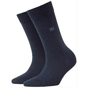 Burlington Bloomsbury zokni-fekete