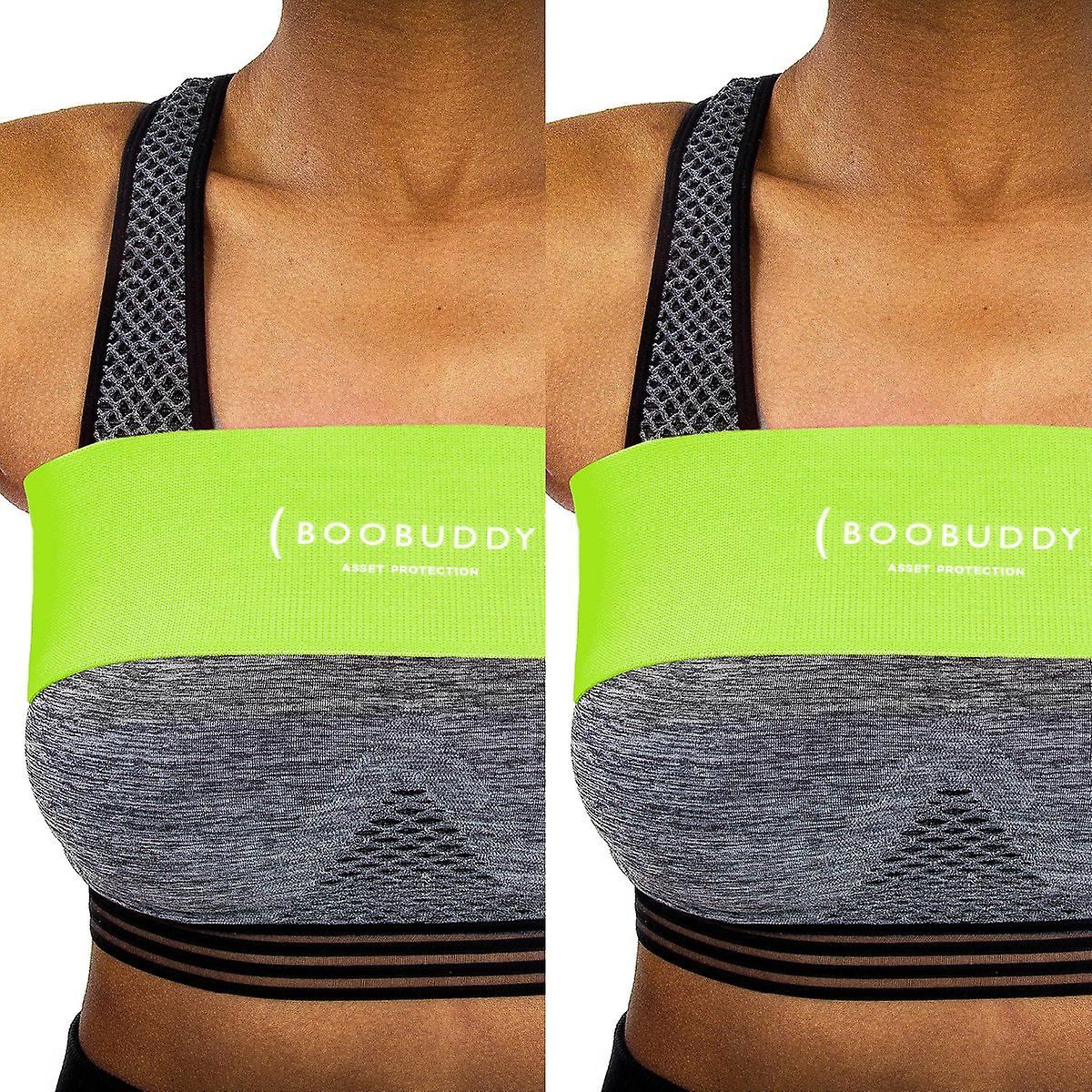 Boobuddy breast support band twin pack – green
