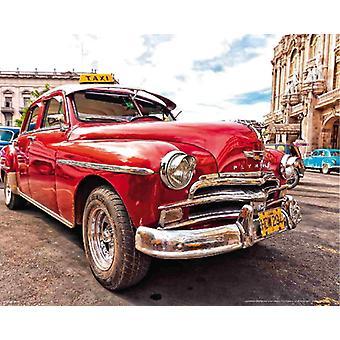 Wallpaper muurschildering oude Cuba auto