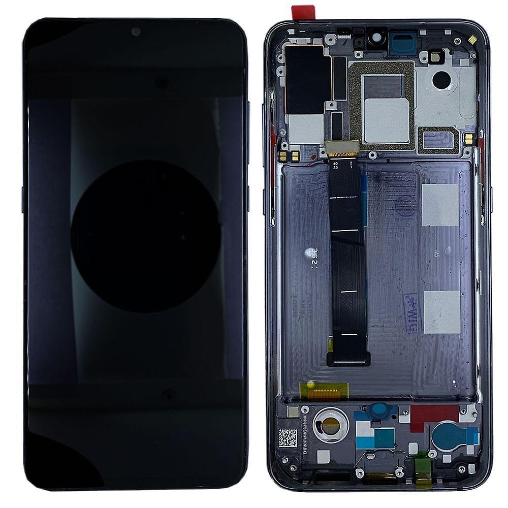 För Xiaomi Mi 9 Visa full OLED LCD-enhet touch med ram reservdel reparation svart ny