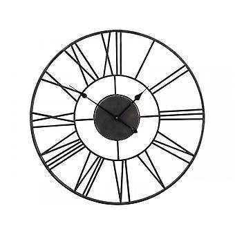 Libra Furniture Antique Black Skeleton Wall Clock