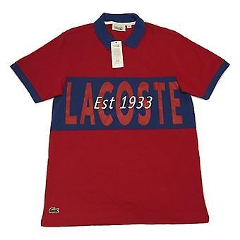 Peso ligero logotipo Lacoste hombres impreso Polo camisa - YH1293-1UM