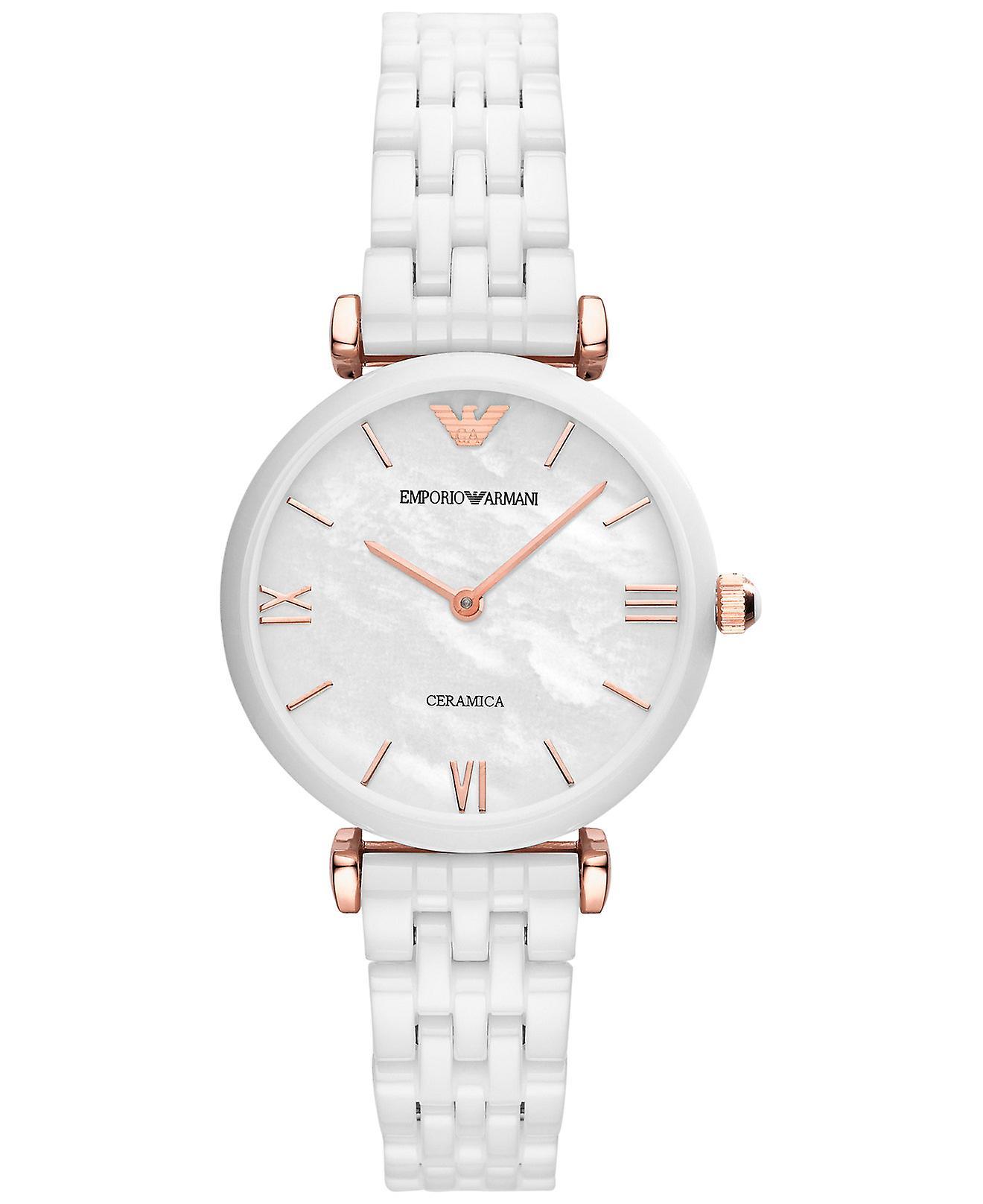 Emporio Armani Ar1486 White Ceramic Bracelet Ladies Watch
