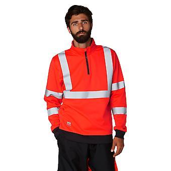 Helly Hansen Herren Addvis Hi Vis Halbe Zip Workwear Sweatshirt