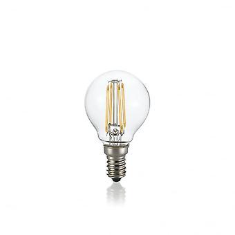 Ideal Lux glödlampa Classic E14 4W Sfera transparent 3000K