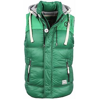 Bodywarmer Green With Hood