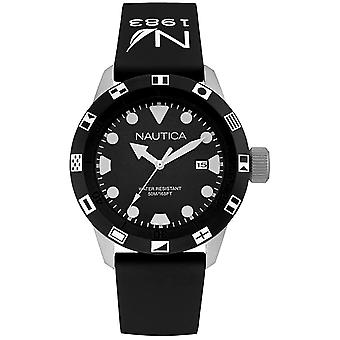 Nautica nsr-100 flag Watch for Analog Quartz Man with NAI09509G Rubber Bracelet