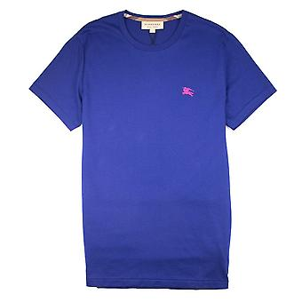 Burberry Joe-Forth Logo brodé T-shirt Bleu-Rose
