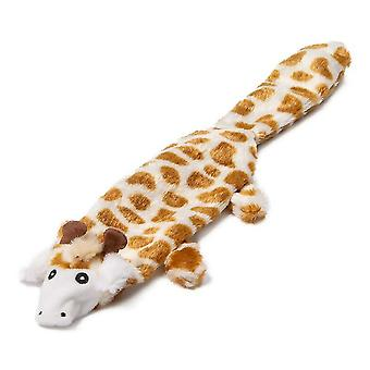 Animate Flat Giraffe Plush Dog Toy