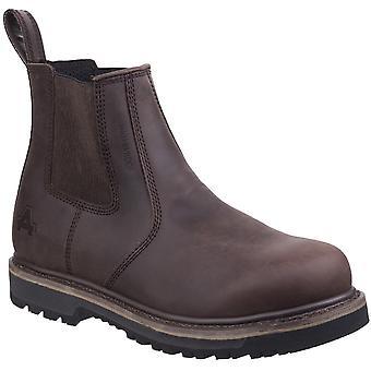 أمبلرز سلامة Mens كارلايل تاجر أحذية العمل الجلدية