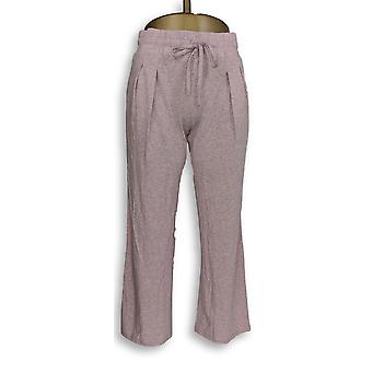 Qualsiasi donna's Pantaloni Petite XXSP accogliente knit rosa rilassato A303107