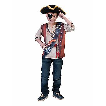 Camisa pirata niños 3D camisa niños traje pirata pirata traje Carnaval