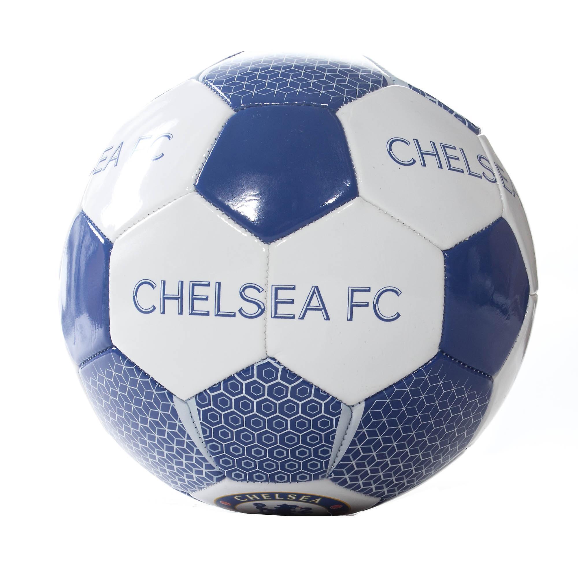 Chelsea FC Official Supporter Football Soccer Ball White/Blue - Size 5