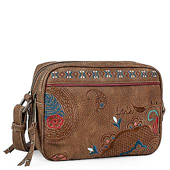 Women's Bag With Paisley Embroidery Model Redwood