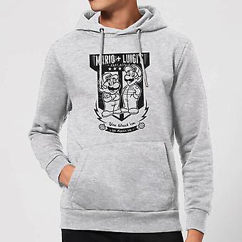 Nintendo Mario Kart Fix-It Team Hoodie - Grey