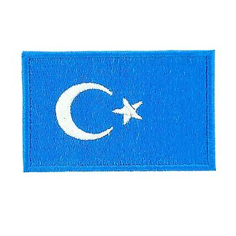 Patch Patch Brode Brode Flagge Ou-Ghour Turkestan Thermocollant Rucksack Rucksack Rucksack
