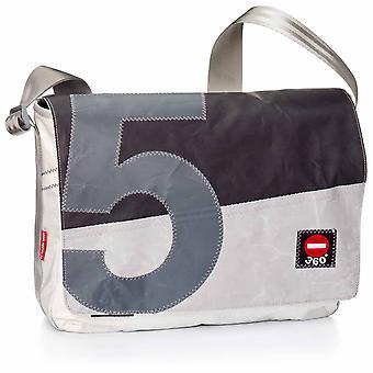 360 degree laptop bag 15 inches, messenger bag, cash register flap black number grey shoulder bag
