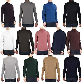 Brave Soul Mens Polo Roll Turtle Neck Jumper Pullover Sweater Knit Top