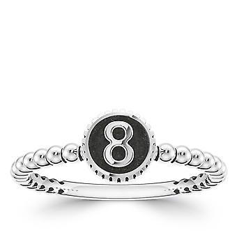 BIXLER Number '8' Fashion Ring In Sterling Silver