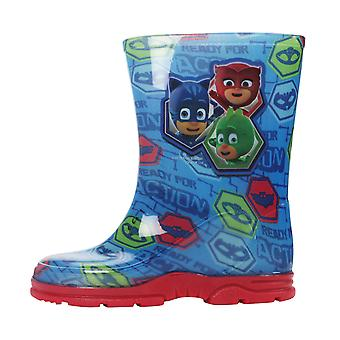 PJ Masks Boys Corcovado Slip On Wellington Boots UK Sizes Child 5-12