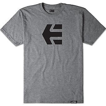 Etnies Icon Short Sleeve T-Shirt in Grey/Heather