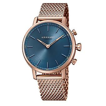 Kronaby S0668-1 Women's Carat Hybrid Smartwatch With Blue Dial