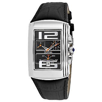 Jovial Men's Classic Black Dial Watch - 08003-GSLC-04