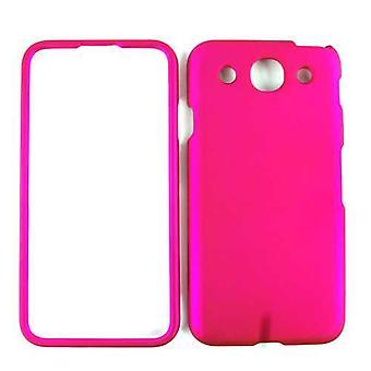 Rajoittamaton Cellular Snap-on tapa uksessa LG Optimus G Pro E980-hunaja kuuma vaaleanpunainen. Nahkainen viimeistely
