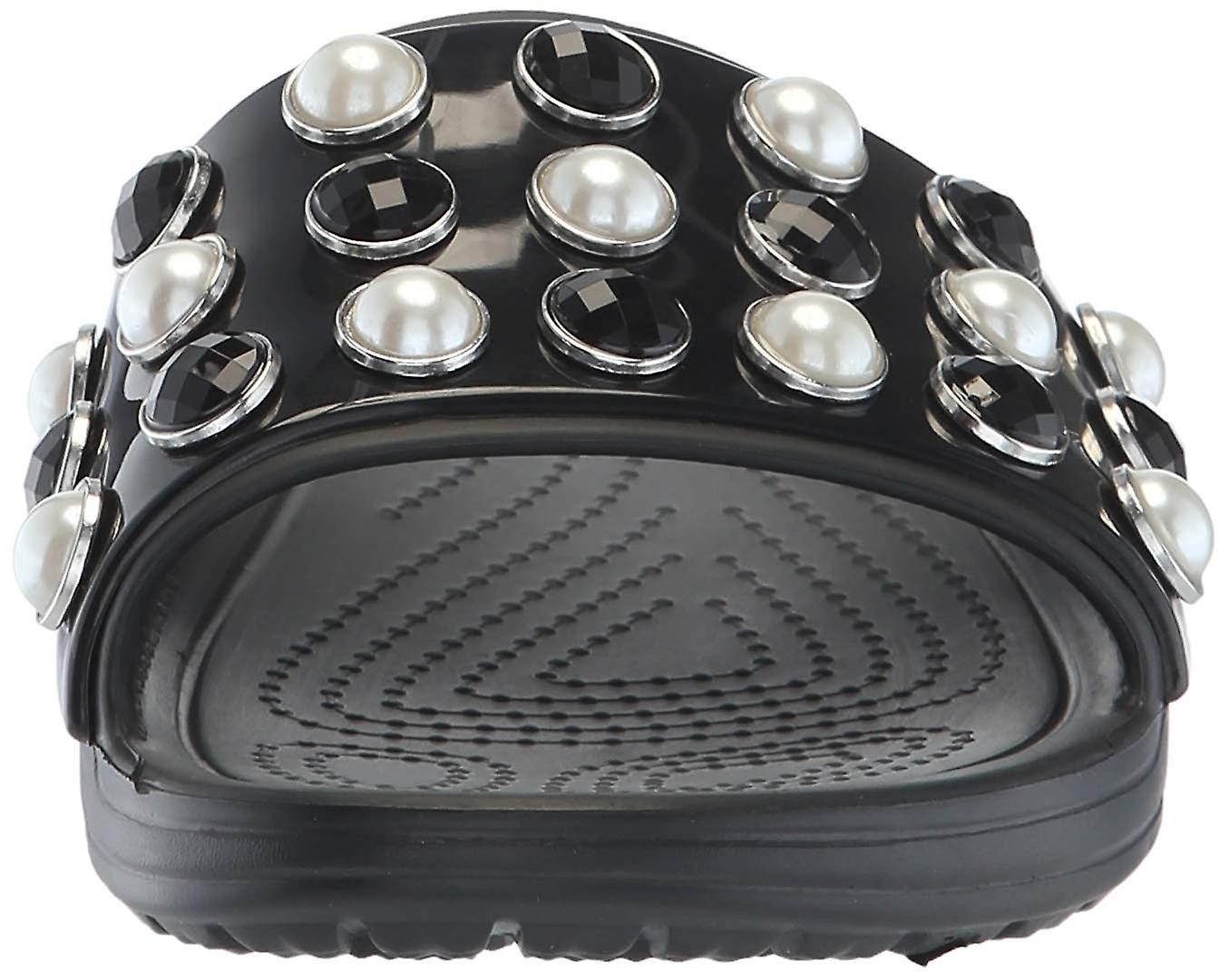 Crocs kobiet Sloane ponadczasowe perły slajdów Sandal 9HgR5