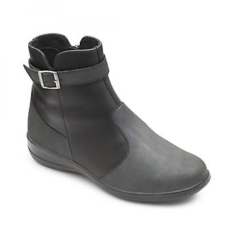 Padders Mary Ladies Leather Extra Wide (2e/3e) Boots Black
