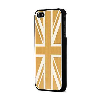 Moxie Aluminium Hull Brushed Gold Flag England For Apple IPhone 5