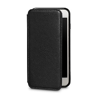 Case For iPhone 8 Plus / IPhone 7 Plus In True Leather Black Card Holder