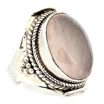 Ring 925 Silber mit Rosenquarz 54 mm / Ø 17.2 mm (KLE-RI-043-07-(54))