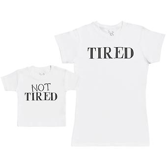 Not Tired & Tired - Baby Gift Set with Baby T-Shirt & Mother's T-Shirt