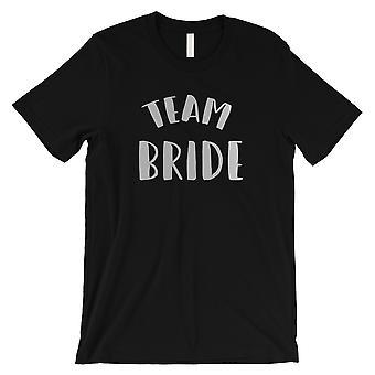 Team Bride-SILVER mens svart T-shirt Heartfelt kärleksfull söt gåva