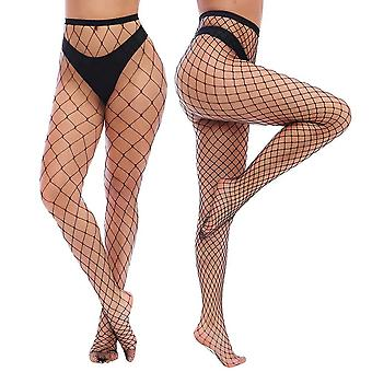 Charmnight Womens High Waist Tights Fishnet Stockings Thigh High Pantyhose 2 ...