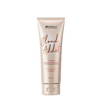 Indola blond addict pink rose shampoo 250ml