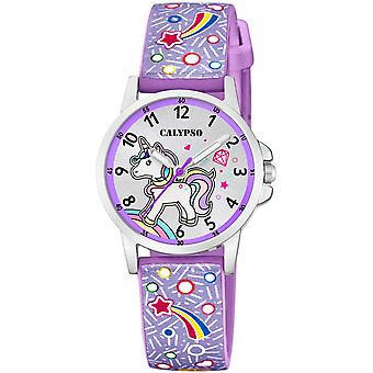 Calypso watch watches K5776-6 - watch purple Silicone