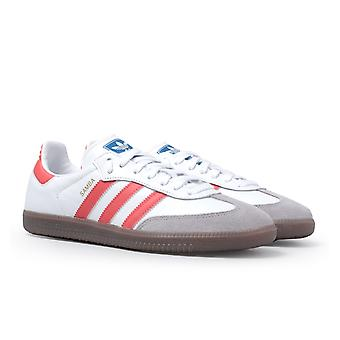 Adidas Originals Samba vit & röda tränare