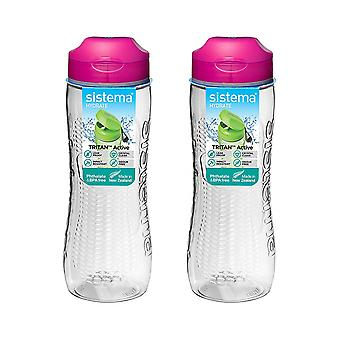 Sistema Ensemble de 2 Tritan Active Bottles 800ml Rose