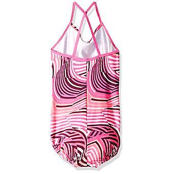 Nike Swim store piger ' Crossback One Piece, laser fuchsia Rush whirl, størrelse Medium