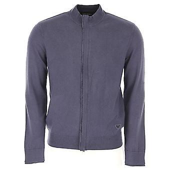 Emporio Armani Zip Up Knitwear Grey 6Z1MYL 1MPQZ