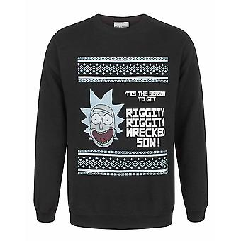 Rick And Morty Tis The Season Men's Christmas Sweatshirt