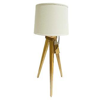 Lampe bord træ hvid skærm 49 cm