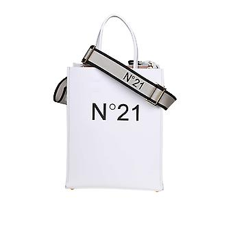 N°21 20ebp178xnt18n002 Women's White Synthetic Fibers Tote