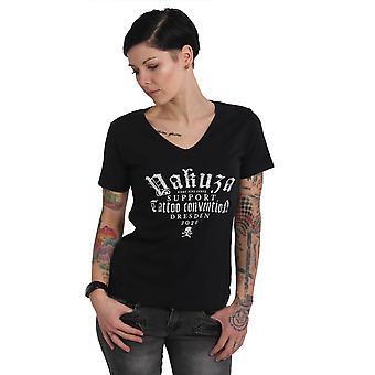 YAKUZA Women's T-Shirt Yakuza 4 Dresden 2020 V Neck