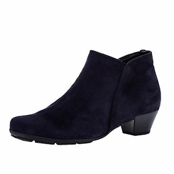 Gabor Trudy Modern Suede Ankle Boots In Marine